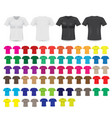 big t-shirt templates collection vector image vector image
