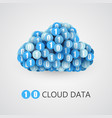 binary big data cloud concept vector image vector image