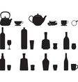 Bottles with specific glasses vector image vector image
