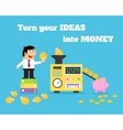 Business life ideas money converter vector image