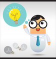 Businessman get idea vector image vector image