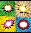 comic book bright templates set vector image