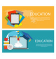 concept of on line education vector image vector image