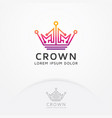 crown technology logo vector image vector image