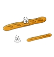 Crusty french baguette with a happy smile vector image