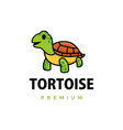 cute tortoise cartoon logo icon vector image