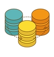 database hosting icon image design vector image vector image