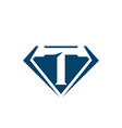 diamond jewelry stone logo outline diamond vector image