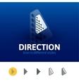 Direction icon in different style vector image
