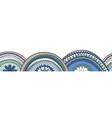 doodle circle texture horizontal seamless pattern vector image vector image