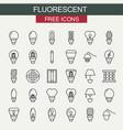 flourecent icons set vector image