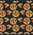 fresh italian pizza pattern background vector image