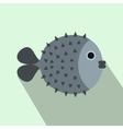 Fugu sharp fish icon flat style vector image vector image
