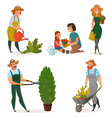 Gardening hobby icon set vector image