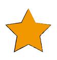 gold star decoration elegant element vector image