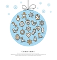 Greeting card with Christmas gingerbreads vector image vector image