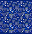 happy hanukkah shining background with menorah vector image vector image