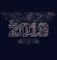 happy new year 2019 copper art deco greeting card vector image vector image