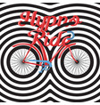 hypno ride - hand lettering with bicycle vector image vector image