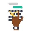 Keyboard hands vector image