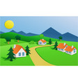 landscape with small village vector image vector image