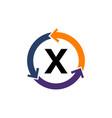 management process letter x vector image vector image
