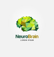 modern colorful brain logo design vector image