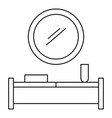 modern interior room icon outline style vector image