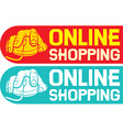 Online shopping design vector image vector image