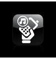 phone music icon vector image vector image