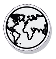 planet earth sphere isolated icon vector image