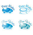 pure water logo for company water delivery vector image