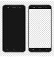 realistic smartphones with blank screen and vector image vector image