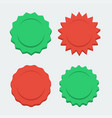 red and green stabursts flat style vector image