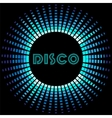 Retro disco background with soundwave frame vector image vector image