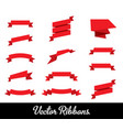 ribbons set collection vector image