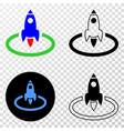 rocket start eps icon with contour version vector image vector image