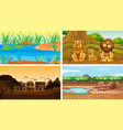 scenes with animals and trees vector image vector image