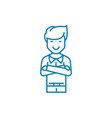 self-satisfied man linear icon concept self vector image