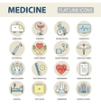 Set modern thin line web icons on medicine and vector image vector image