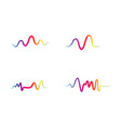 sound waves vector image vector image