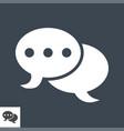 speech bubble flat icon vector image vector image