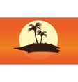 Summer silhouette beautiful islands vector image vector image