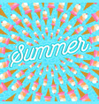 summer vacation greeting card of ice cream food vector image vector image