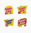 super sale badge template design vector image