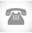Telephone black icon vector image vector image