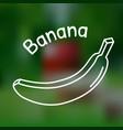 thin line banana icon vector image vector image