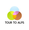 tour to alps vector image vector image