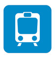 train icon isolated vector image