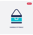 two color handbag female icon from fashion vector image vector image
